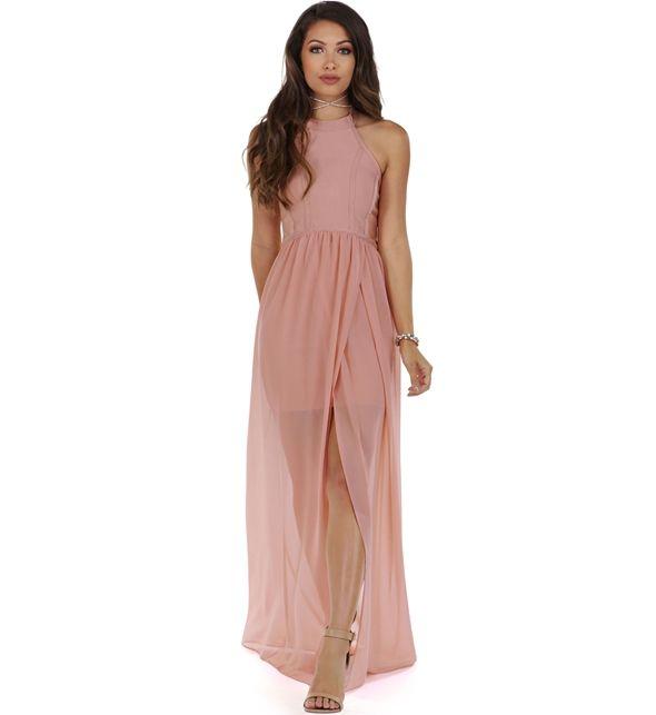 Janine Pink Bandage Dress