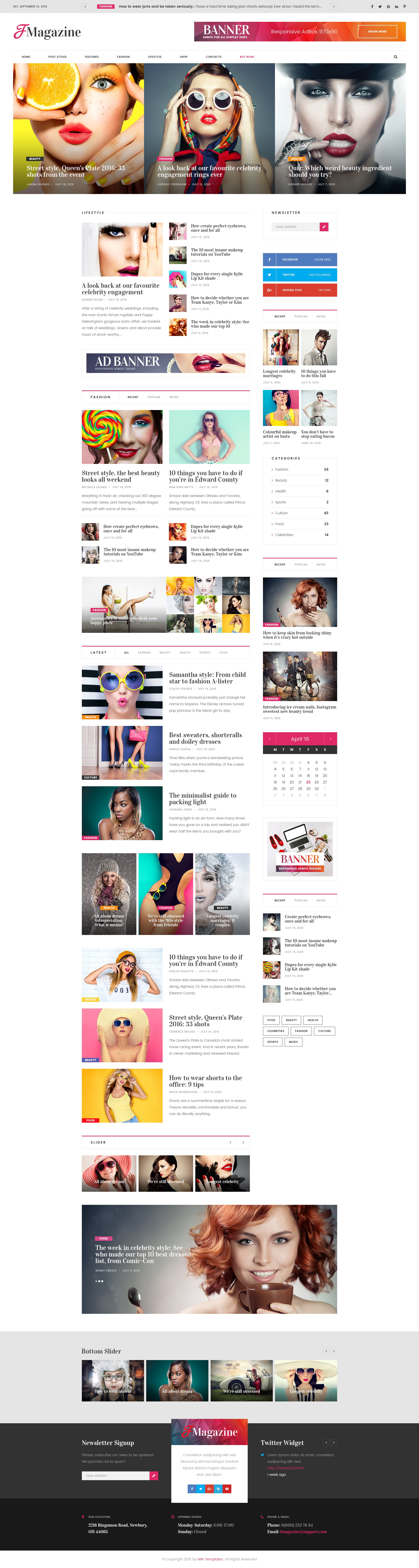 Truemag Multiconcept Magazineblognewspaper Psd Template Psd