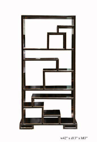Black Lacquer Display Bookcase Divider Cabinet As583 by Display ...