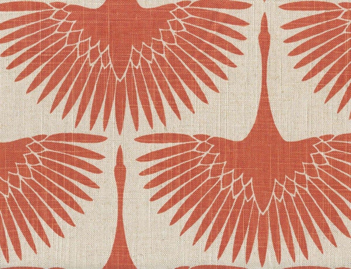 Crane Flight Burn Orange Home Decor Upholstery Fabric Fabric With