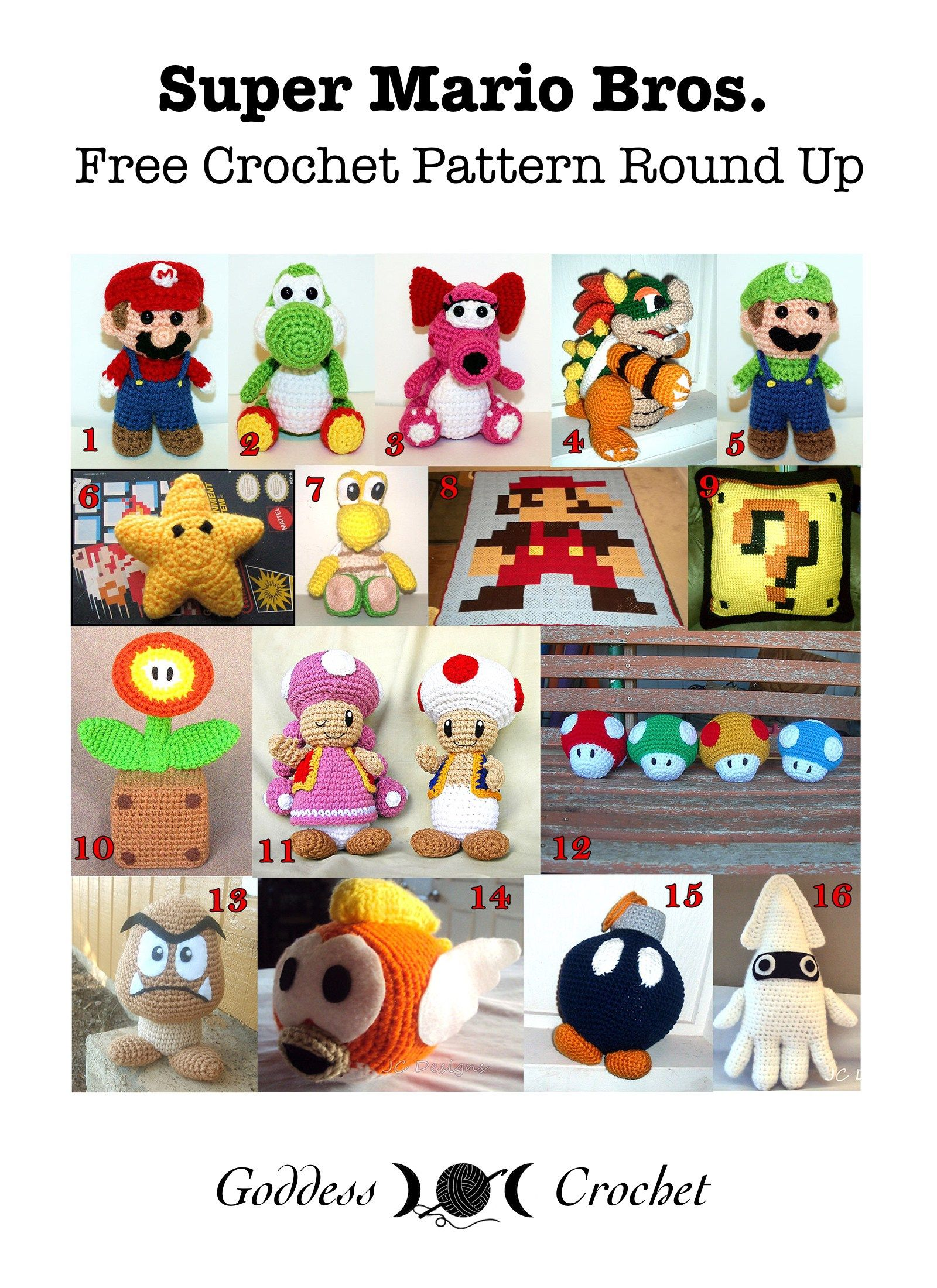 4d5917fd420 Super Mario Bros. - Free Crochet Pattern Round Up