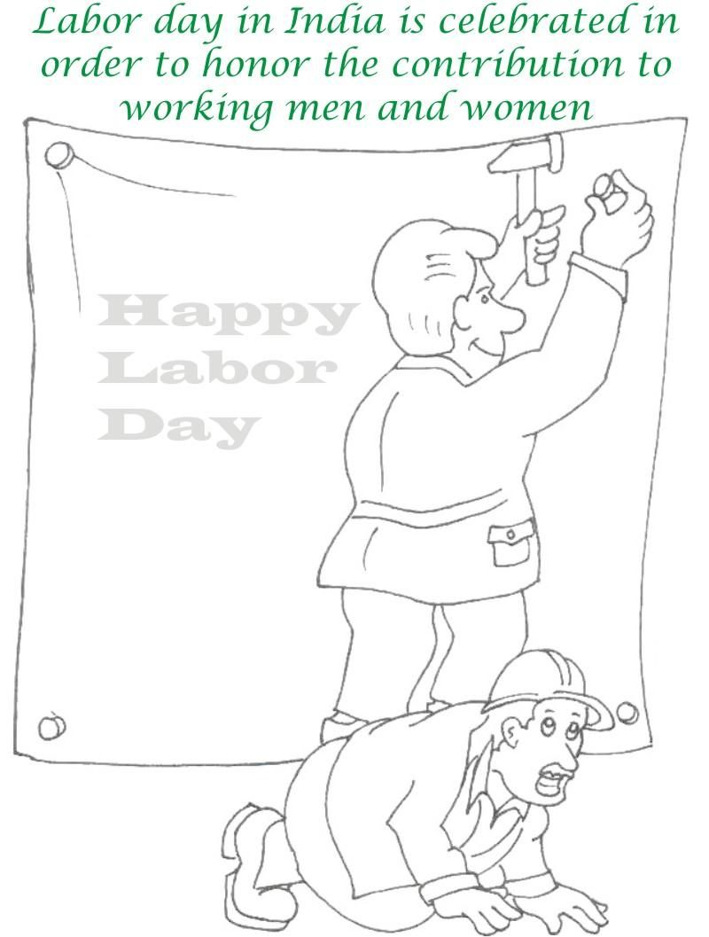 Worksheets Labor Day Worksheets labor day coloring pages printable page for kids 7 day