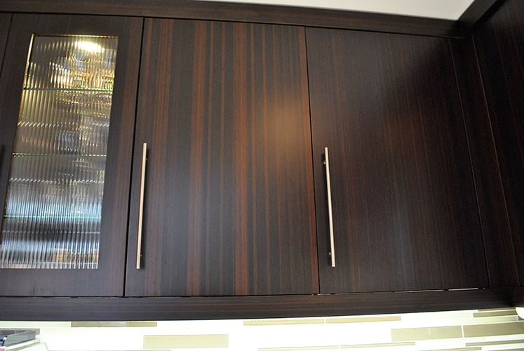 Modern kitchen bamboo cabinets long handles and glass window house ideas pinterest bamboo - Custom cabinet doors toronto ...