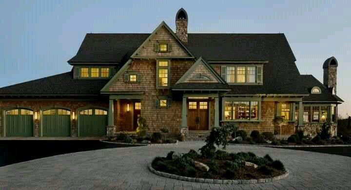 Hausfassade, Abstellgleis Farben, Schöne Häuser, Garage Ideen,  Farbschemata, Zeder Abstellgleis, Ziegel, Immobilien Nachrichten