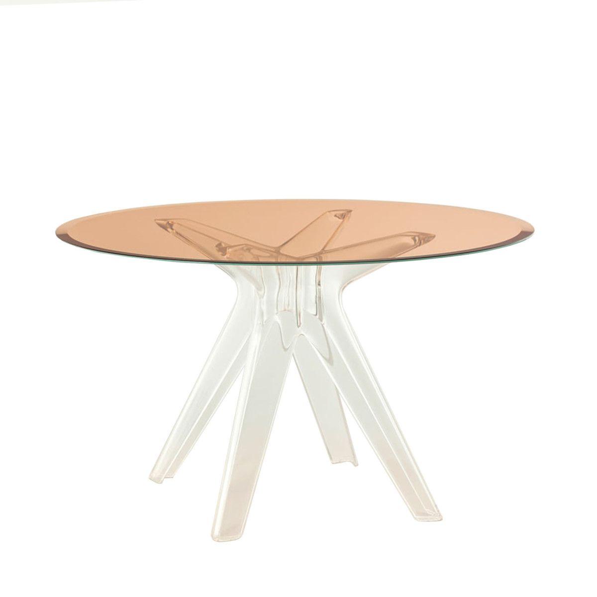 Sir Gio Tisch rund transparent-pink Jetzt bestellen unter: https ...