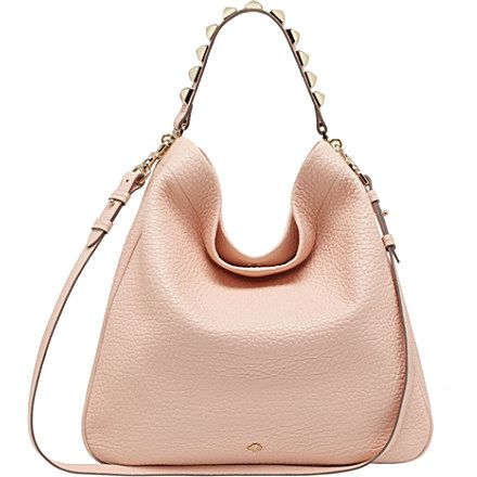 7cd3f28f3025 MULBERRY Eliza large grained-leather hobo (Nude)