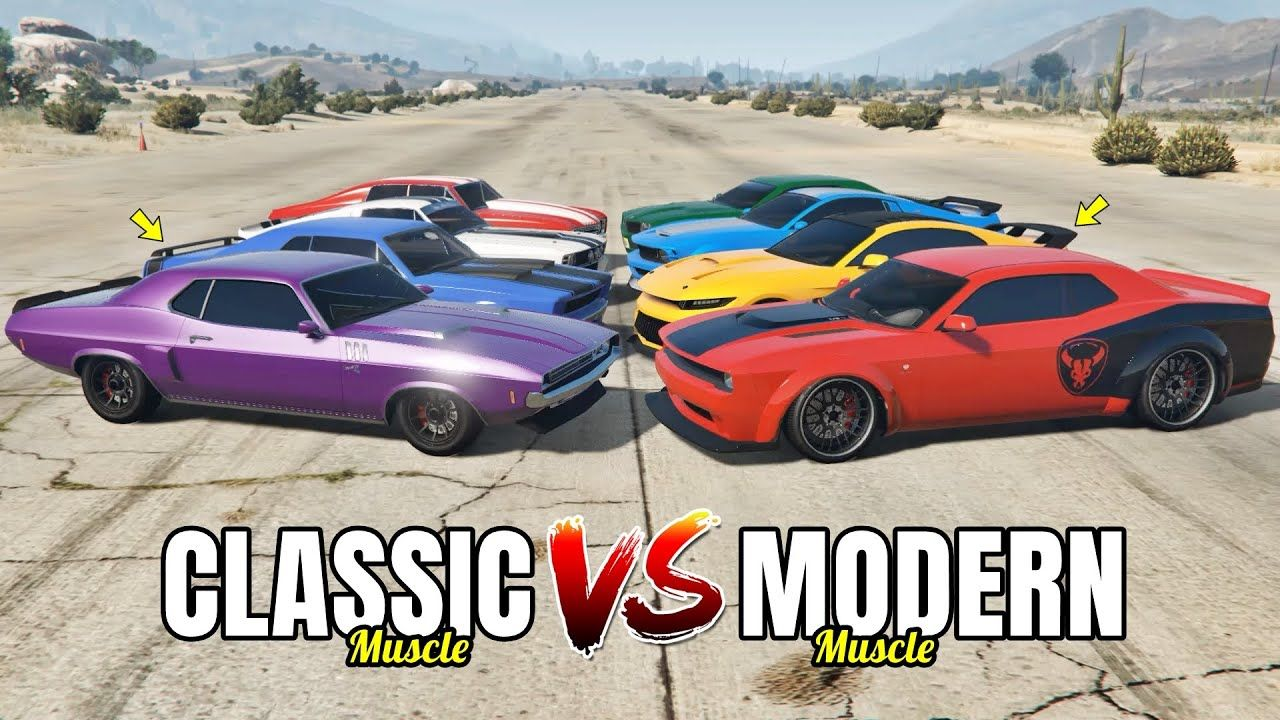 Gta 5 Online Classic Muscle Vs Modern Muscle Which Is Fastest In 2020 Super Cars 4 Door Sports Cars Car