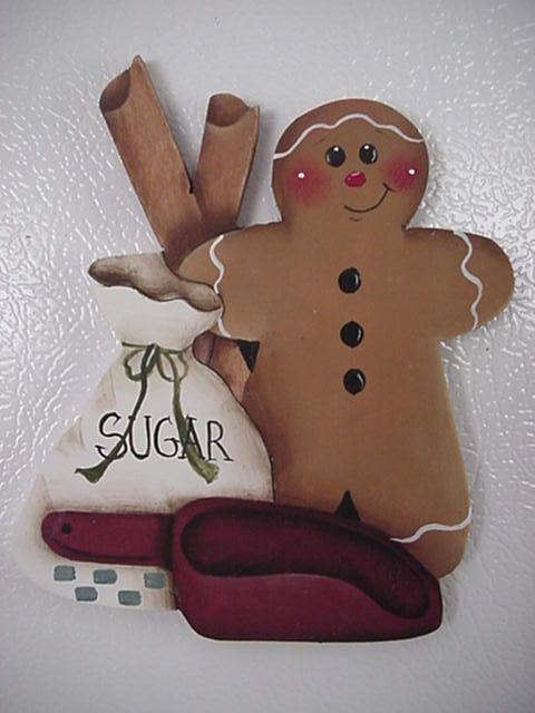 HP~~Gingerbread with SUGAR Scoop & Bag ~~ Fridge Magnet