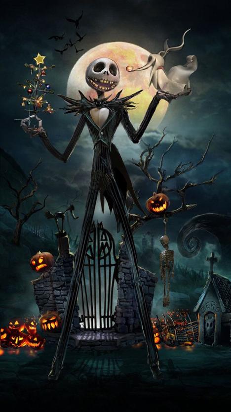 jack skeleton the nightmare before christmas wallpaper for iphone - Nightmare Before Christmas Backgrounds