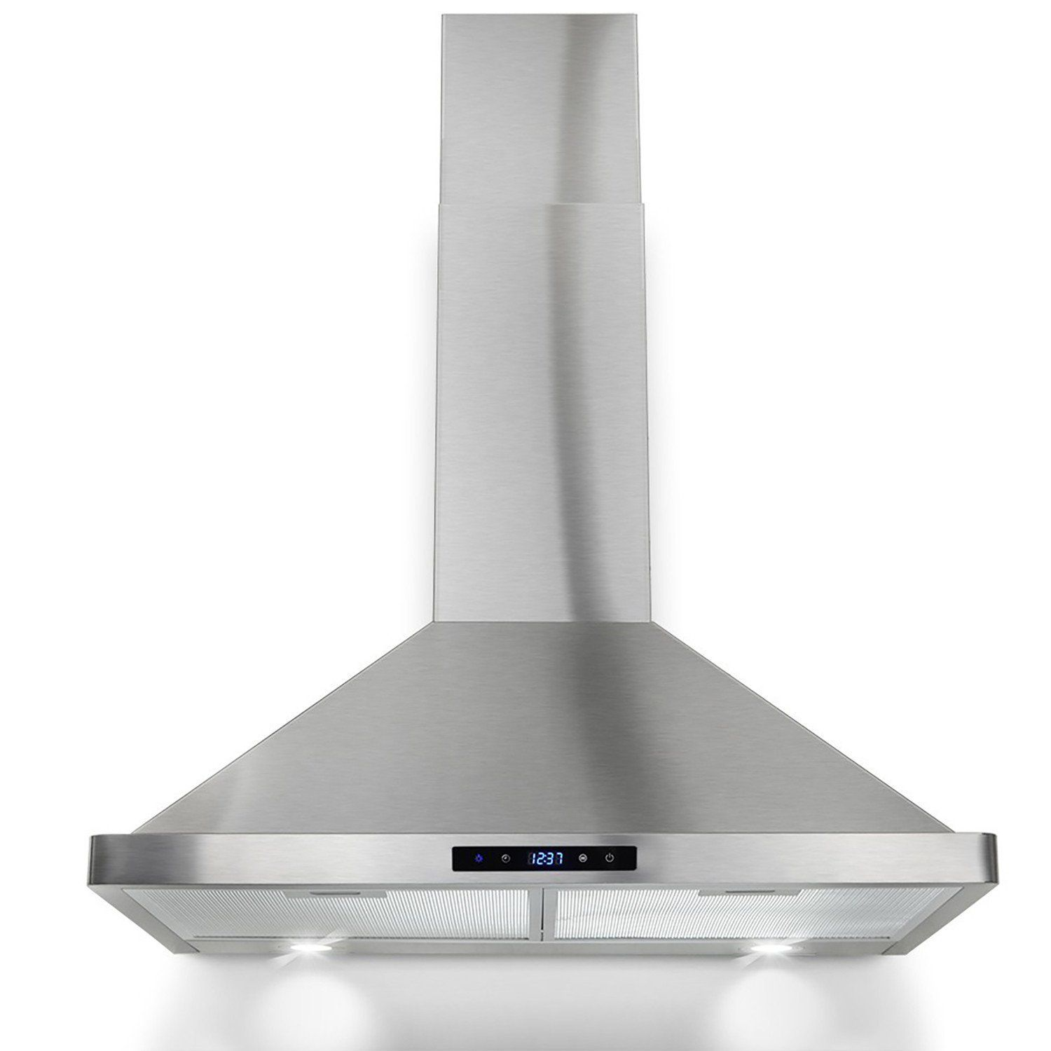Winflo 30 Wall Mount Stainless Steel Convertible Kitchen Range Hood With 450 Cfm Air Flow Led Display Touch Control I Range Hood Kitchen Range Hood Led Lights