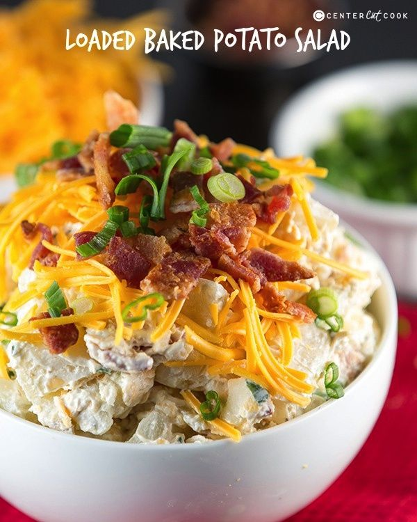 Loaded Baked Potato Salad Recipe Baked Potato Salad Potatoe Salad Recipe Loaded Baked Potato Salad