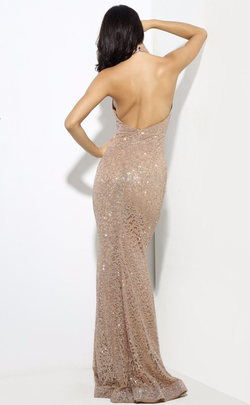 Upon a dream gold glitter embellished maxi dress long sparkly