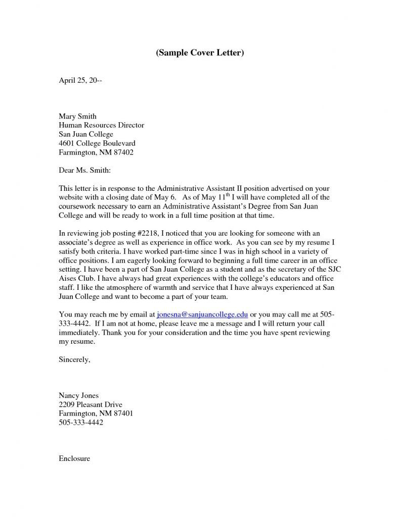 Fice Assistant Cover Letter Cover Letter For A Nursing