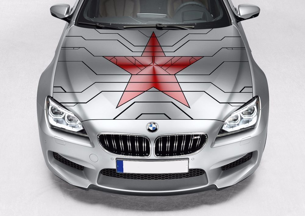 Avengers winter soldier star logo graphics decal auto vinyl sticker fit any car oracal