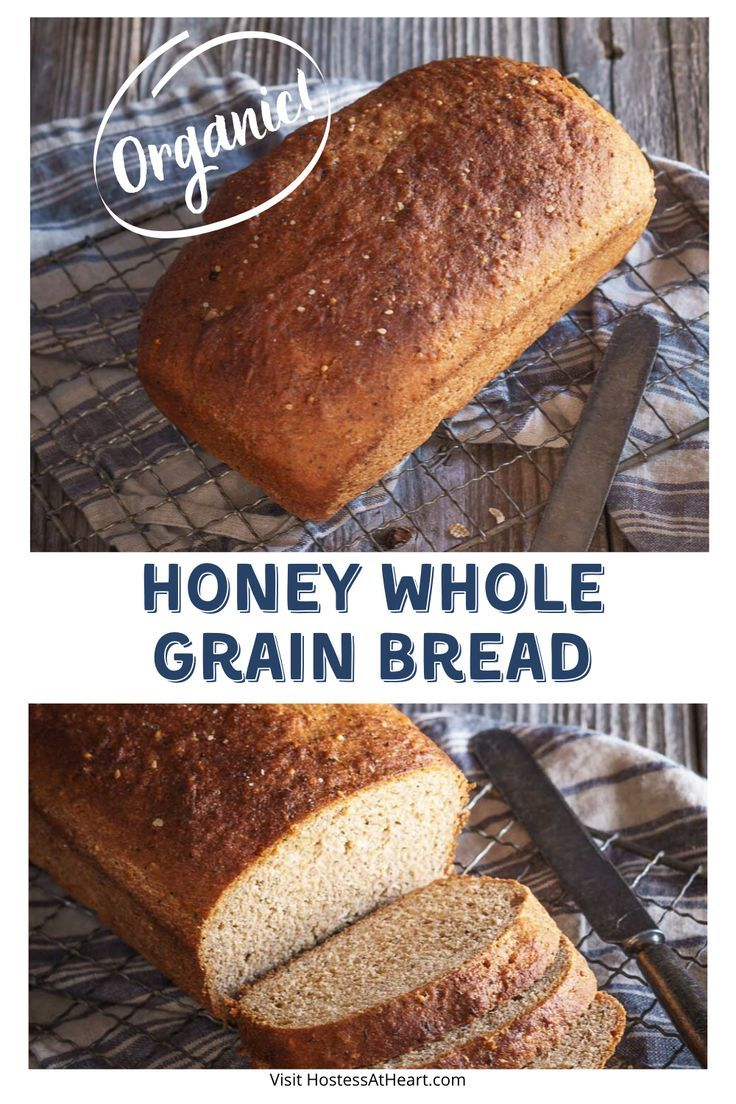 Honey Whole Grain Bread in 2020 | Homemade bread recipes ...