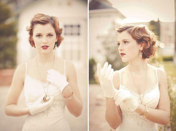 Les jolies mariées aux cheveux courts photography
