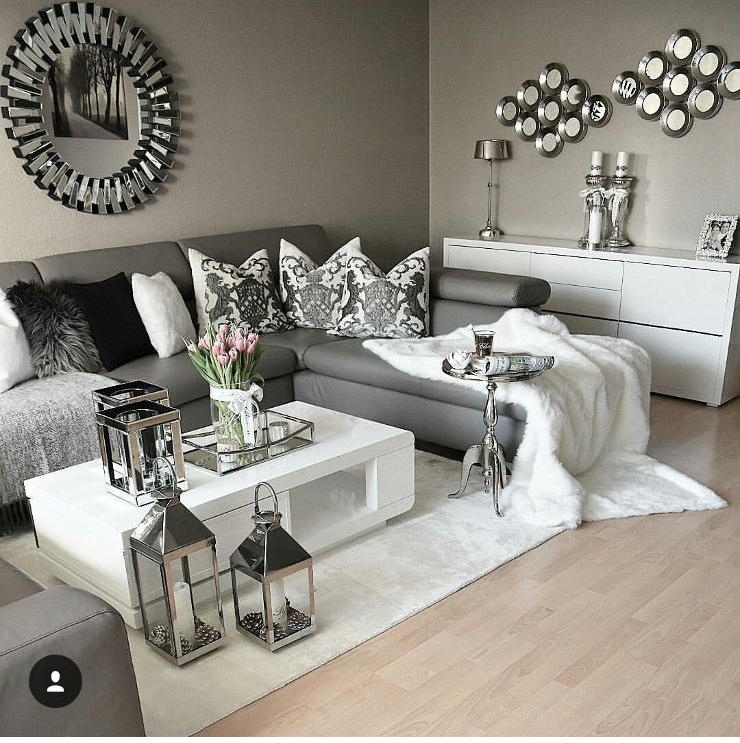 The 25 best living room decor ideas grey ideas on - Black and white and grey living room ...