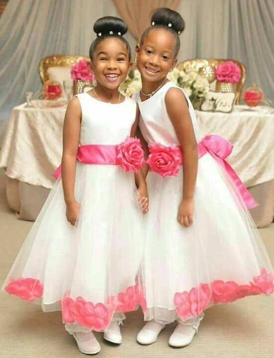 Flower Girls Hair And Dress Flower Girl Wedding Reception