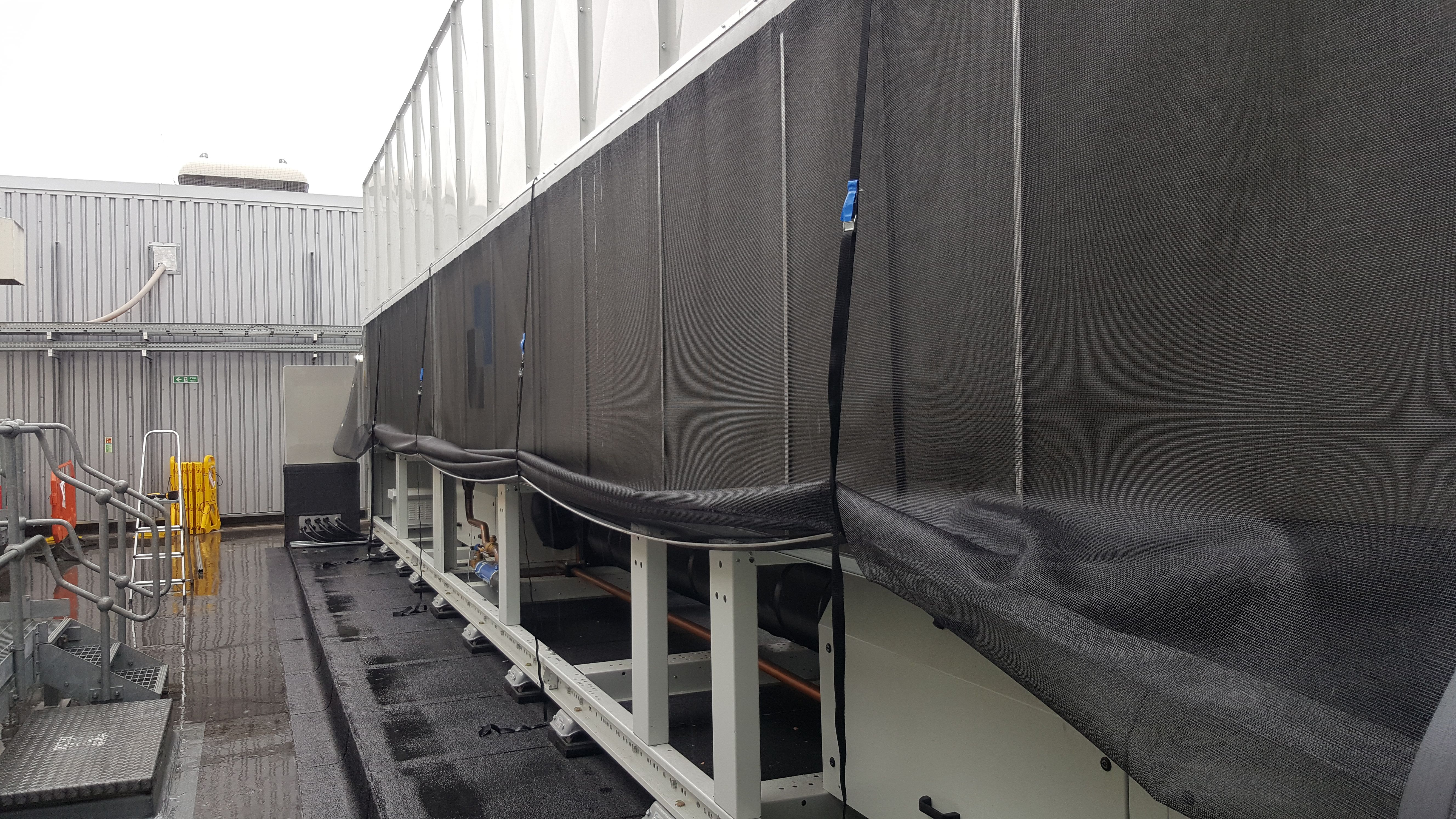 chiller air intake screen protection Air