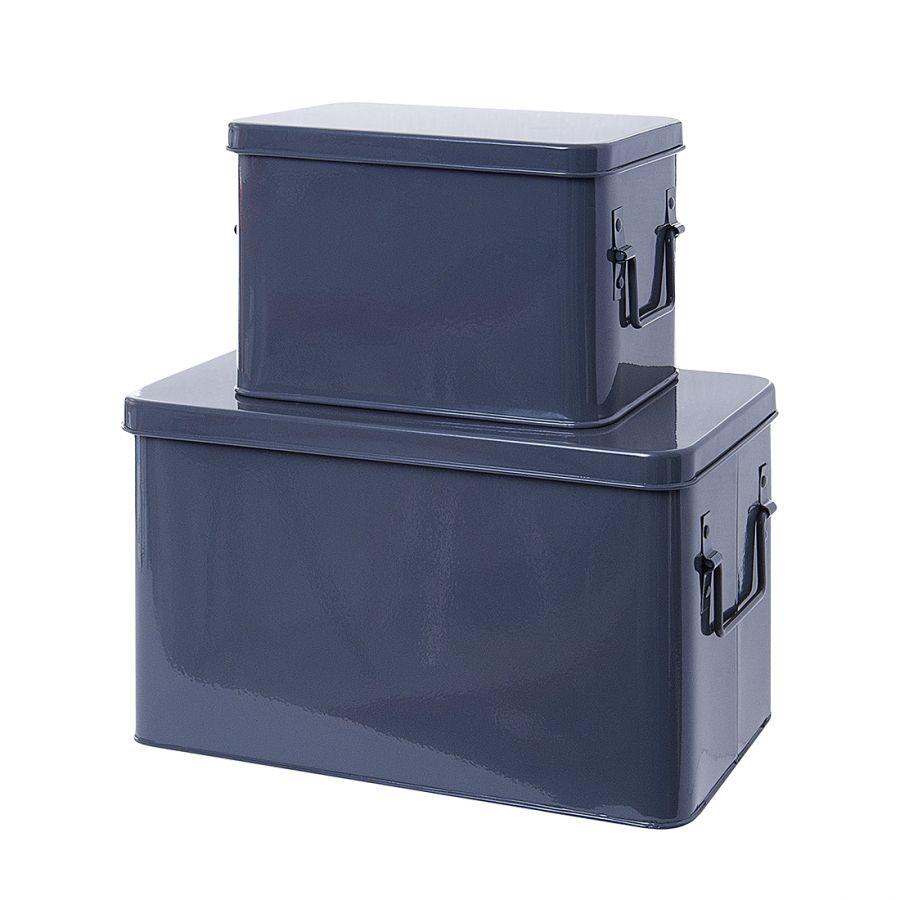 Aufbewahrungsboxen - Metall Anthrazitgrau, Tiefe: 21 cm Breite: 19 ...