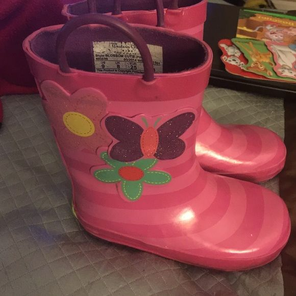 Pink blossom size 9 children/toddler boots Western chief size 9 children/toddler blossom cutie pink Shoes Winter & Rain Boots