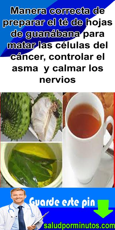 Como preparar el te de hoja de guanabana para adelgazar