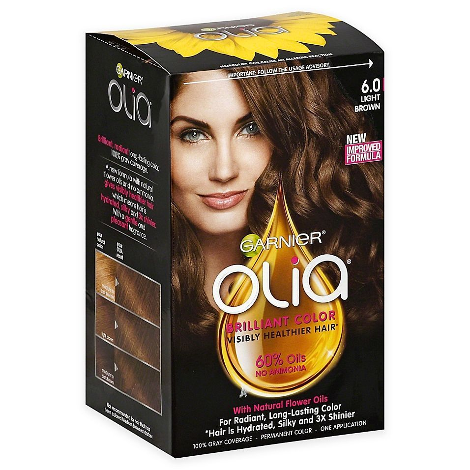 Garnier Olia Brilliant Color Permanent Hair Color In 60 Light Brown In 2020 Permanent Hair Color How To Dye Hair At Home Hair Color