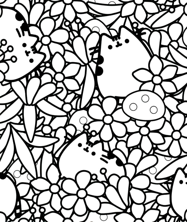 Pusheen Pusheen coloring pages, Cat coloring page