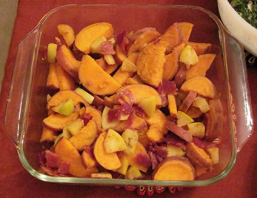 An Introduction to My Sweet Potato and Bacon Appetizer
