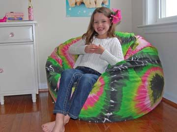 2013 Decor Trend Is Using Green, Like In This Tie Dye Print Bean Bag Chair