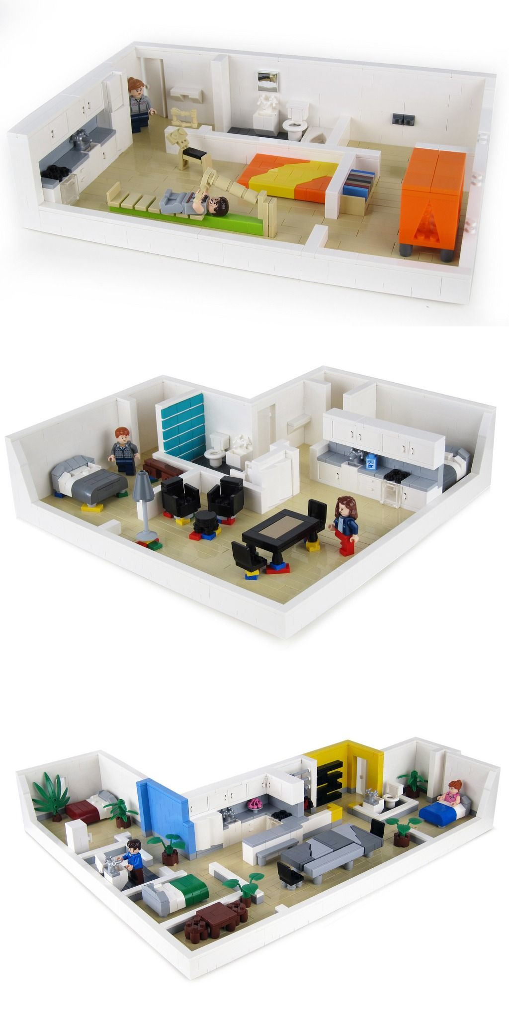 Apartment 3 | Lego | Lego furniture, Lego craft, Lego house