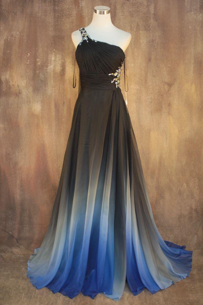 Gradient Color Prom Dresses 9e269b978451