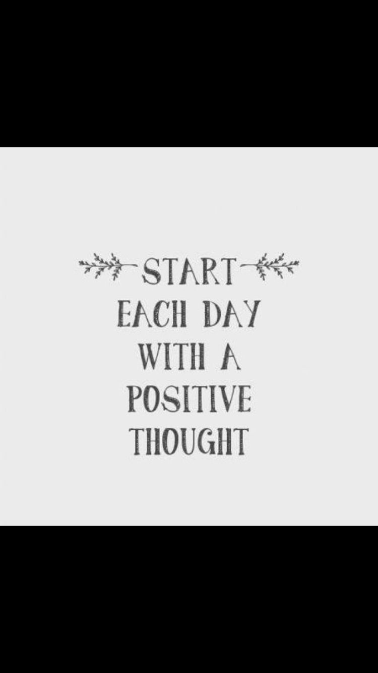 With a positive thought