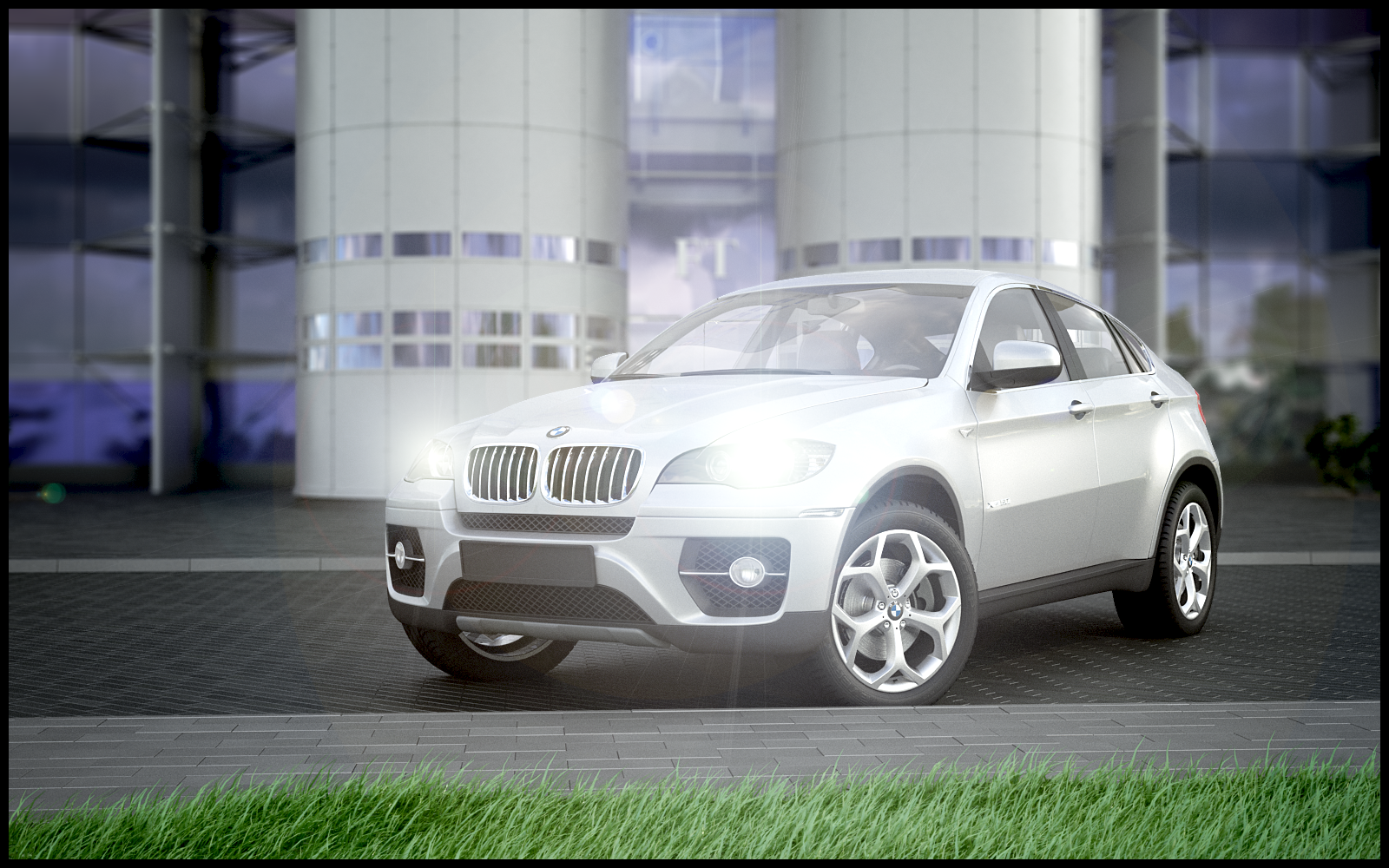Bmw X6 From Evermotion Hd Cars Backdrop From