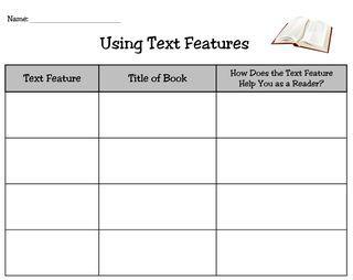 Non-Fiction Text Features | School | Pinterest | Text Features ...