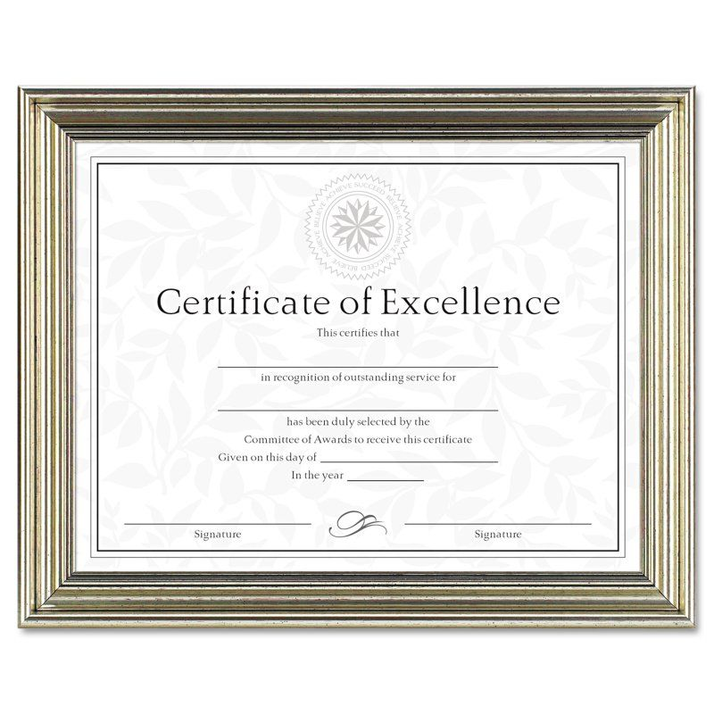 DAX 8.5 x 11 in. Antique Colored Document Frame with Certificate - DAXN1818N2T