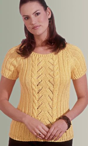 Cap Sleeve Summer Sweater To Convert To Machine Knitting Knitting