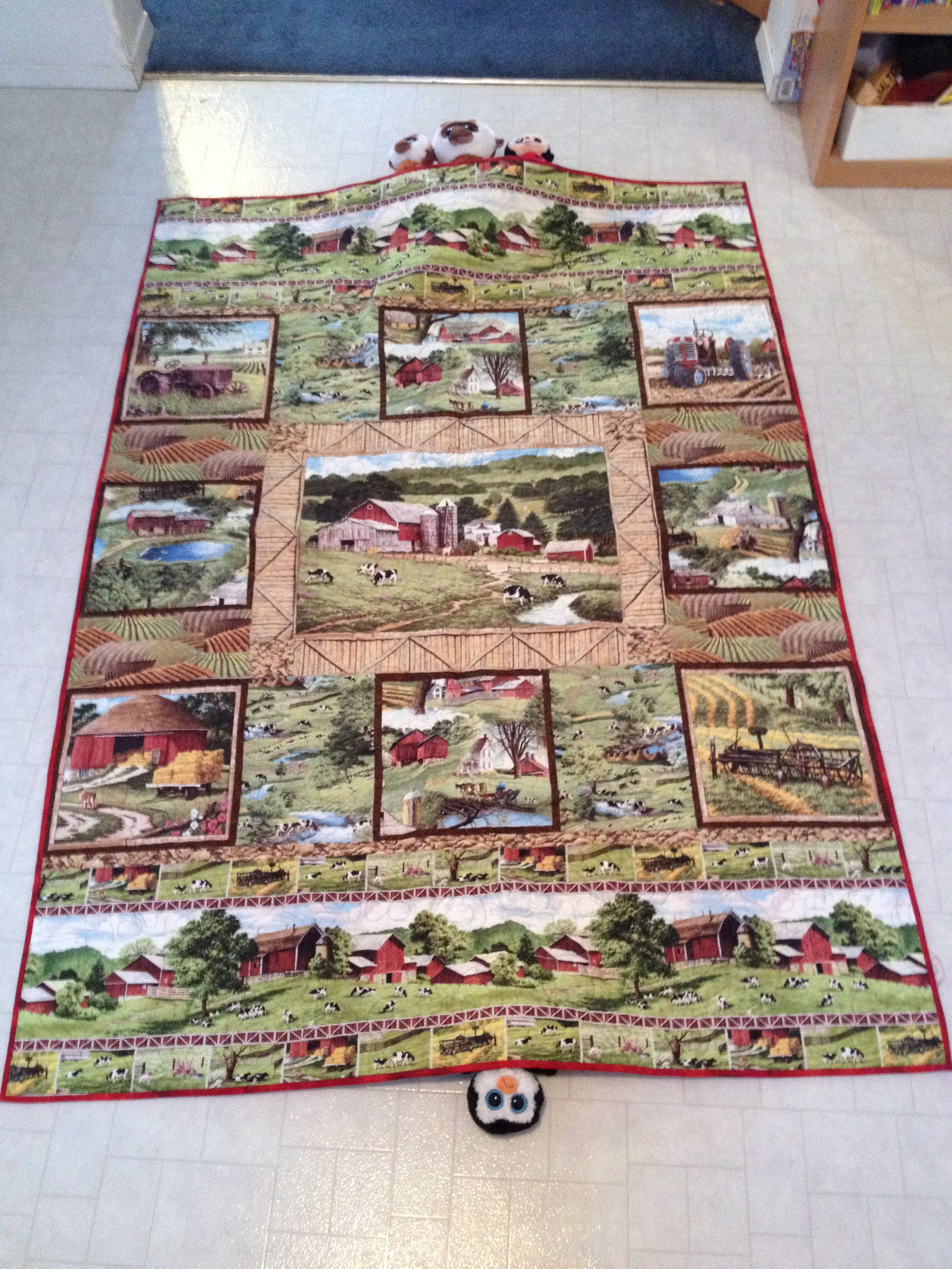 Conrad S Tractor Quilt Panel Quilts Fabric Panel