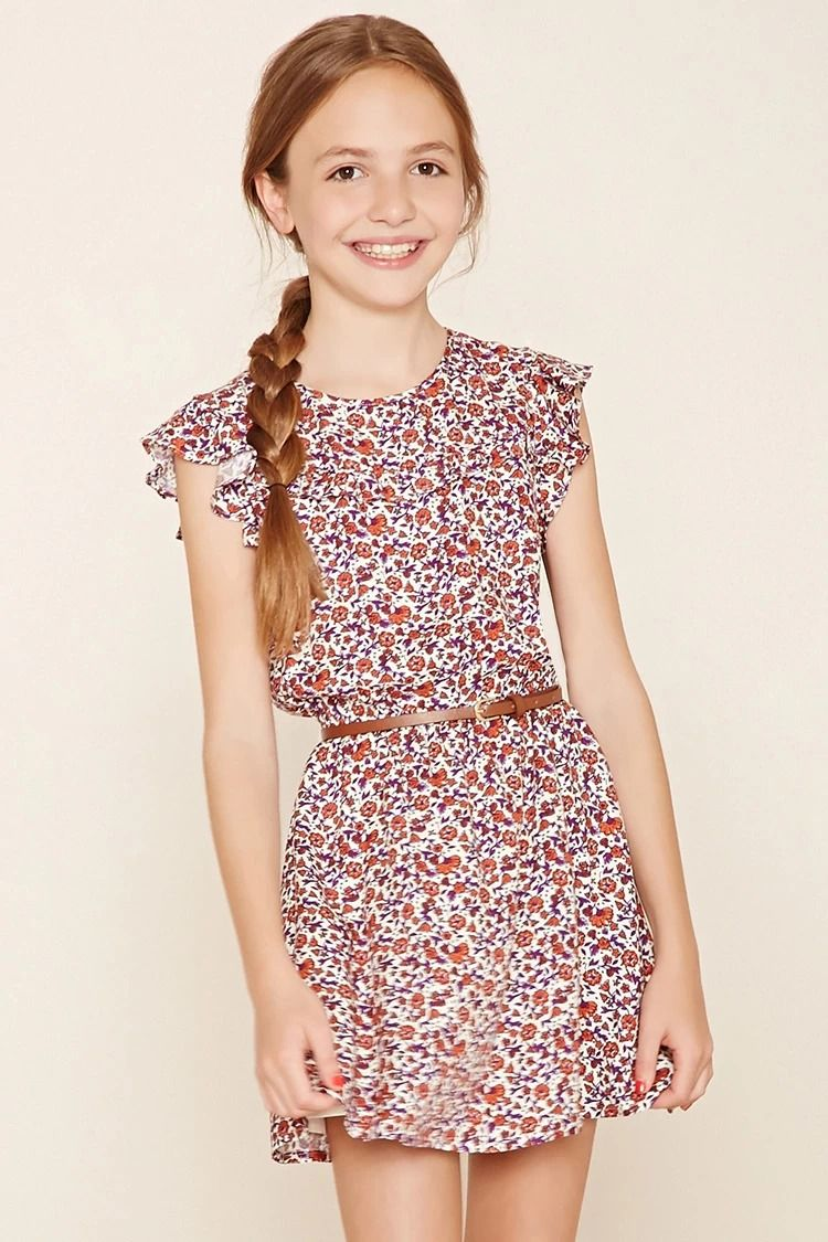Forever 21 Girls - A textured woven dress #f21kids | roupas ...