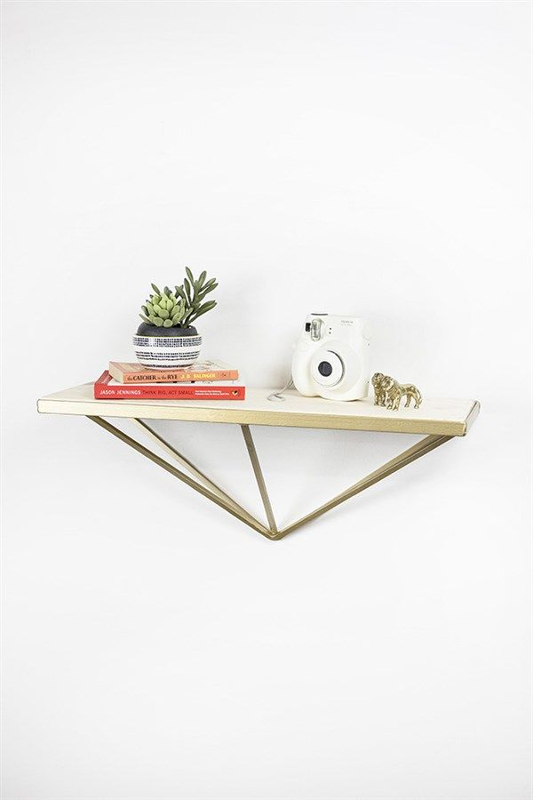 Geometric Shelf - Designed for the fun and unique home. Sturdy frame and pine shelving.
