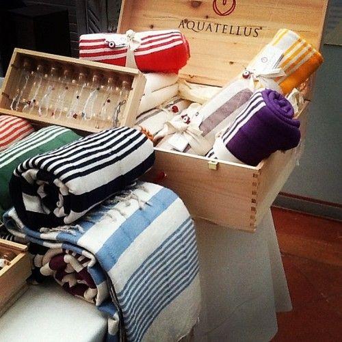 Colorful beach towels #stripes #organic #cotton #handwoven #artisan #designstowel #accessories www.aquatellus.it
