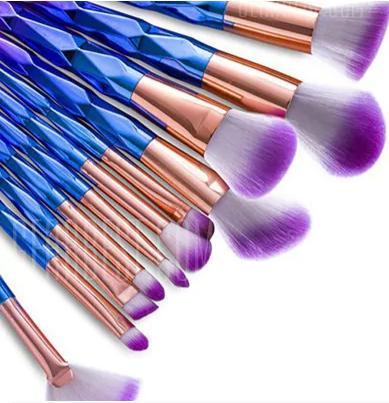MAANGE Makeup Brush Tool Blue Violet Makeup Brushes