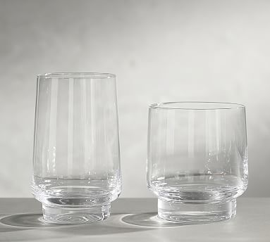Aaron Probyn Heavy Stack Glass Set Of 4 Potterybarn Glass