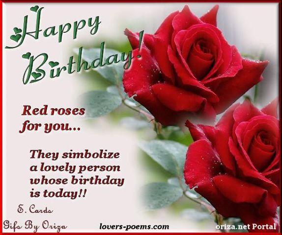 birthday roses | Romantic birthday wishes, Rose poems ...