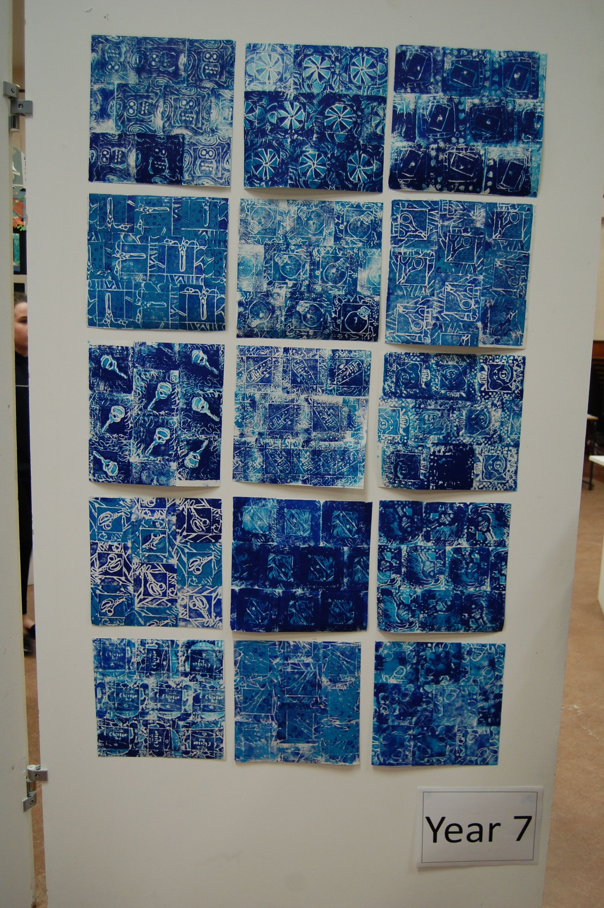 Year 7 Print Making Project Inspired By Islamic Art And