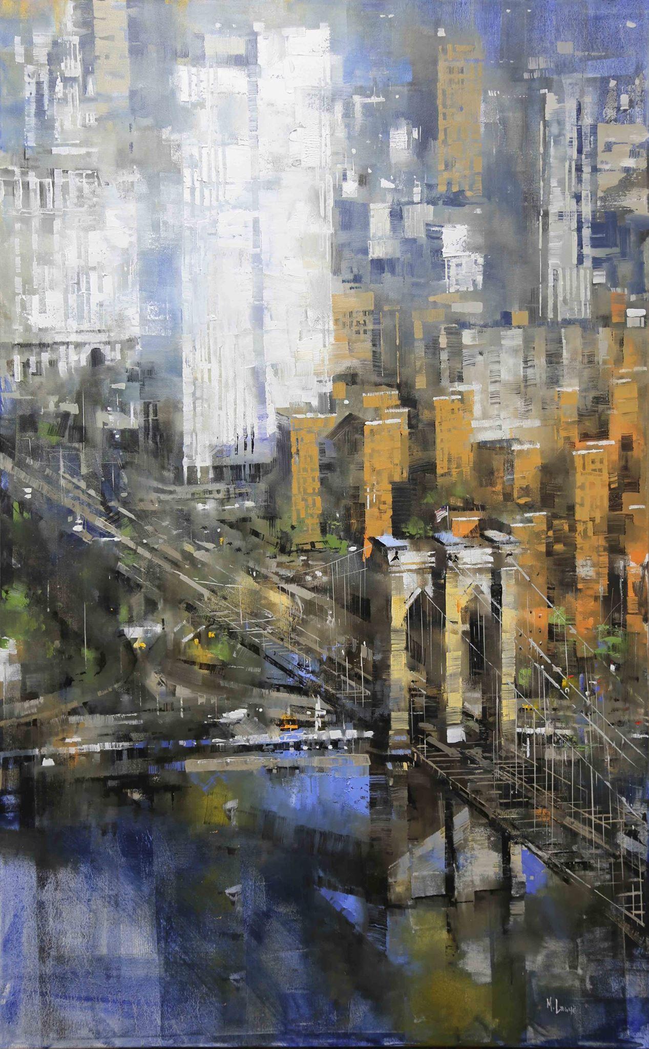 Mark Lague Brooklyn Bridge Vertical City Painting City Scape Painting Cityscape Painting
