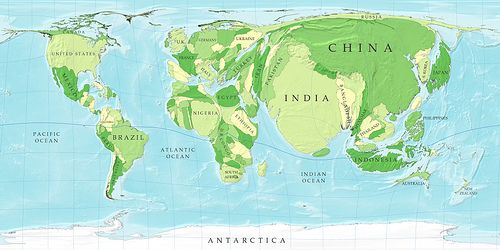 World population cartograph wanderlust population map gumiabroncs Images