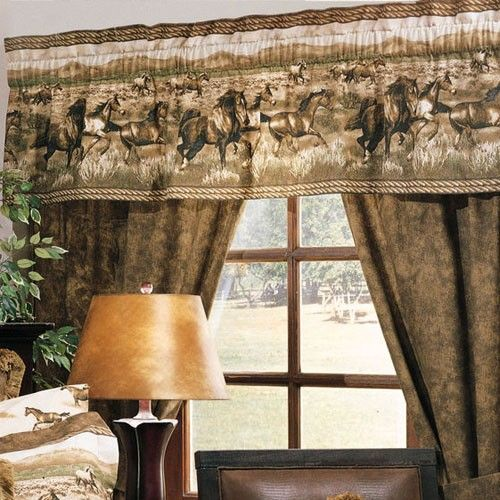 Horse Curtains Horse Theme Window Treatments Drapes
