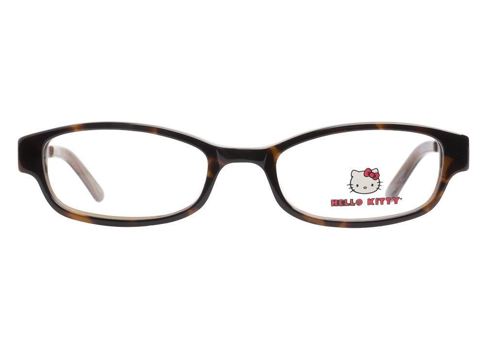 7fbcaa66e Fun Stylish Hello Kitty Girls Eyeglass Frames HK214 Demi Brown Tortoise 44mm  #HelloKitty