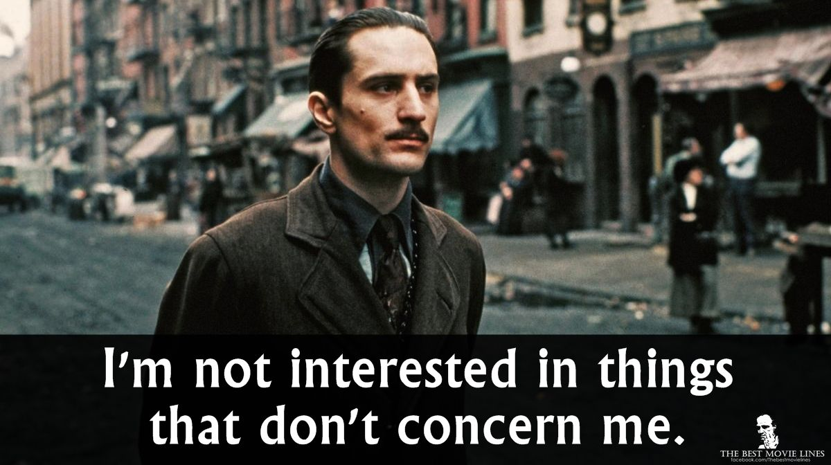 Robert de niro in the godfather part 2 1974 more der pate pinterest zitate and spr che - Miyamoto musashi zitate ...
